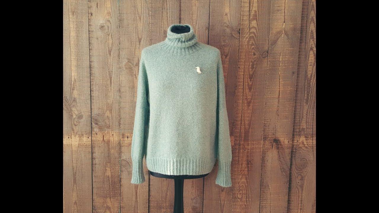облачный свитер 1 я часть спицами мк Youtube
