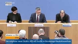 Vorstellung der Asylzahlen 2017 durch Thomas de Maizière am 16.01.18