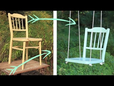 Create your own diy tree swing youtube for How to build a swing set for adults
