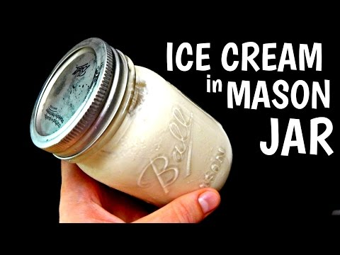 MASON JAR ICE CREAM At Home – Inspire To Cook (DIY, How To Make Ice Cream At Home) HD