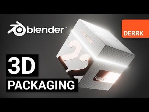 3D Package Design + Animation In Blender 2.8 EEVEE