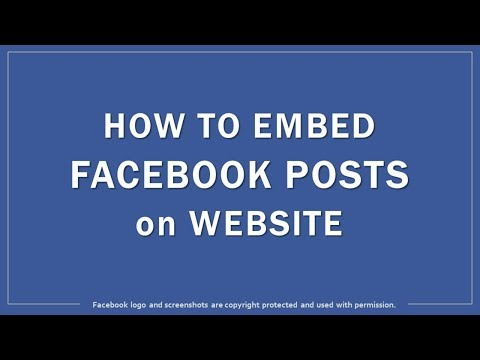 How To Embed Facebook Posts On Website