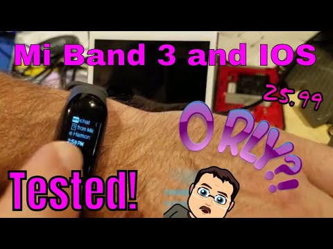Mi Band 3 notifications with an Iphone - Confirmed 👍 - YouTube