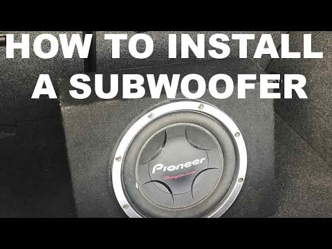 How to Install a Subwoofer and Amp in your Car