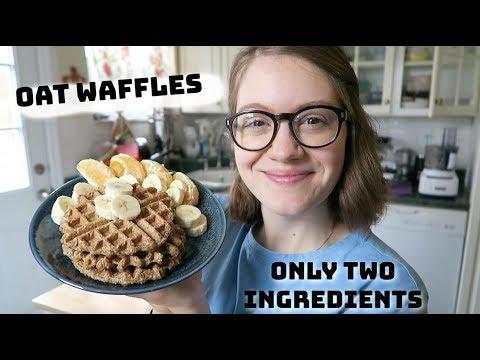 Easy Oat Waffles (Two Ingredients)