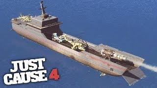 MOST POWERFUL BATTLESHIP IN JUST CAUSE 4! - Just Cause 4 Challenges!