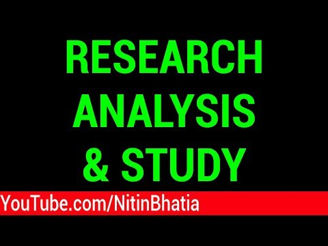 Stock Market Research Analysis and Study - A new Series | HINDI