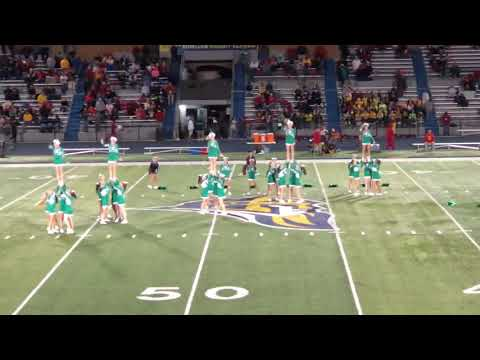 Alleman cheer homecoming halftime show