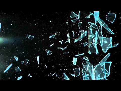 Shattering Glass Pane with Slingshot in Slow Motion Slow Mo HD Video Catapult Band and Glass Shards