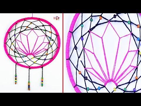 Unique Dream Catcher Idea | Ganja Leaf Dream Catcher | Wool Water Lily Dreamcatcher