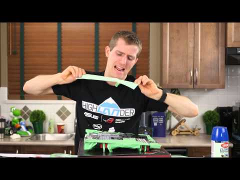 Painting A Motherboard DIY Mod - ASUS Rampage 5 Extreme - Part 1