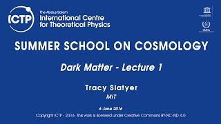 Tracy Slatyer: Dark Matter - Lecture 1