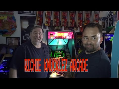 #796 Tour of RICHIE KNUCKLEZ Classic Video Game ARCADE in New Jersey! TNT Amusements