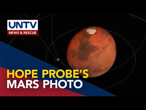 Image of Mars captured by UAE's Hope mission