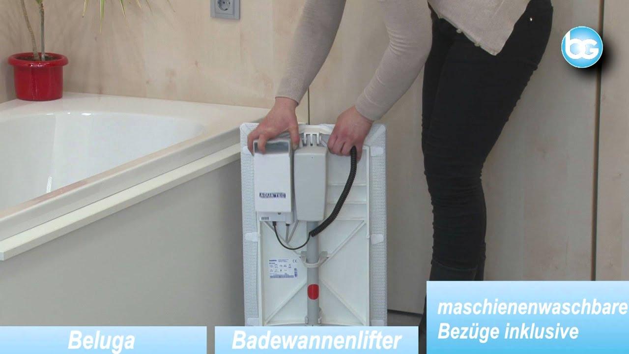 Badewannenlifter Aquatec Beluga Wwwburbach Goetzde Youtube