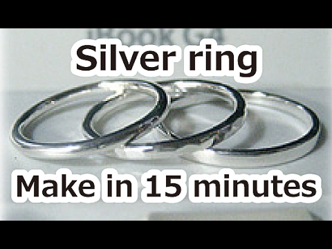 Make a silver ring in 15 minutes