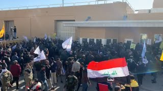 Iraqi Protesters Storm U.S. Embassy In Baghdad Over Air Strikes