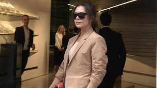 Victoria Beckham poses for photographers at her own first ever fashion show at 2018 London Fashion W