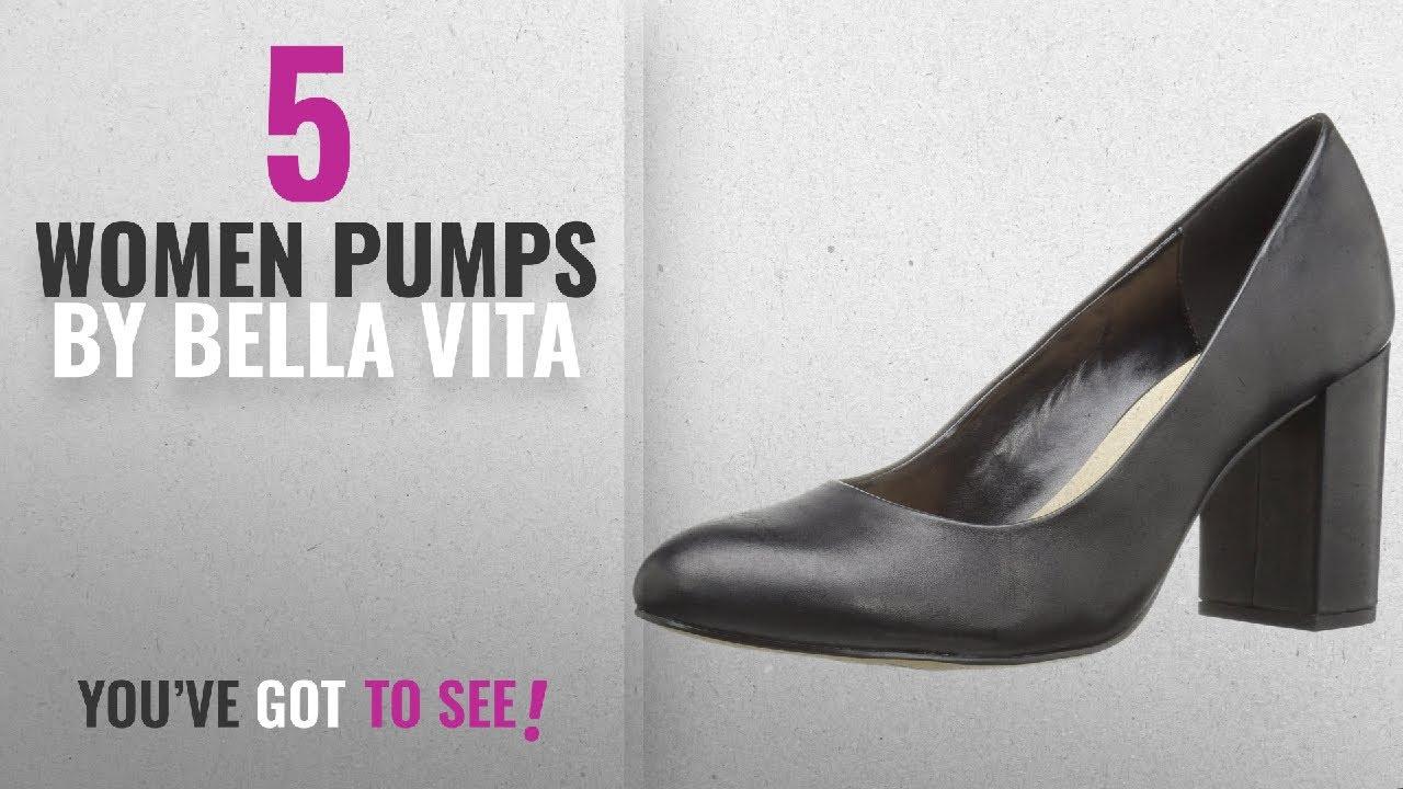 19ad46dc0d Top 5 Bella Vita Women Pumps [2018]: Bella Vita Women's Nara Dress Pump,  Black Leather, 12 W US