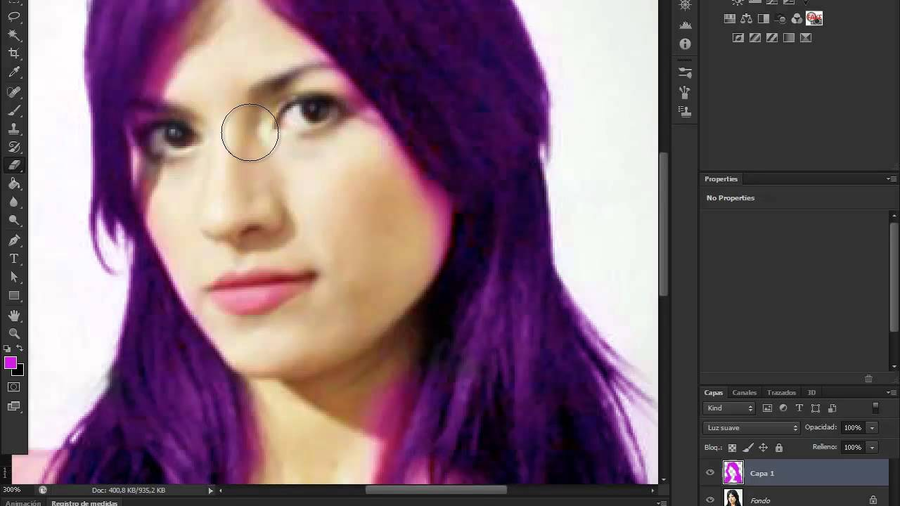 Cambiar el color del cabello con photoshop