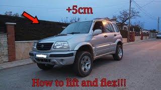 How to lift and flex Suzuki Grand Vitara 2.0