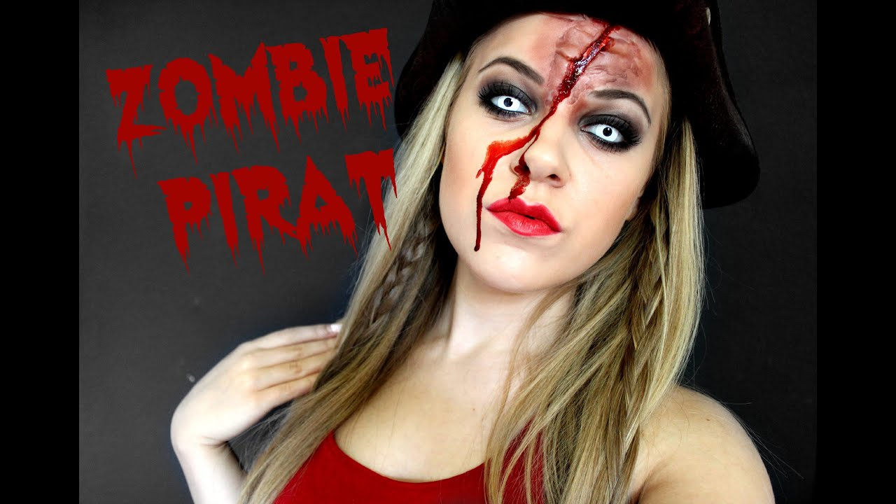 zombie pirat makeup look horroktober youtube. Black Bedroom Furniture Sets. Home Design Ideas