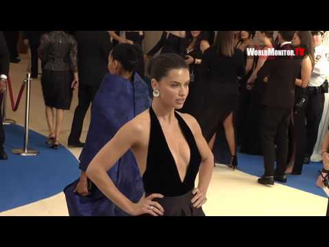 Model Adriana Lima arrives at 2017 Met Gala