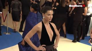 Model Adriana Lima arrives at 2017 Met Gala