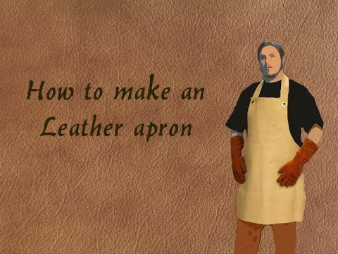 How to make an leather apron
