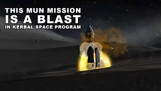 THE ULTIMATE MUN ROCKET IN ACTION - KSP Career Playthrough 35