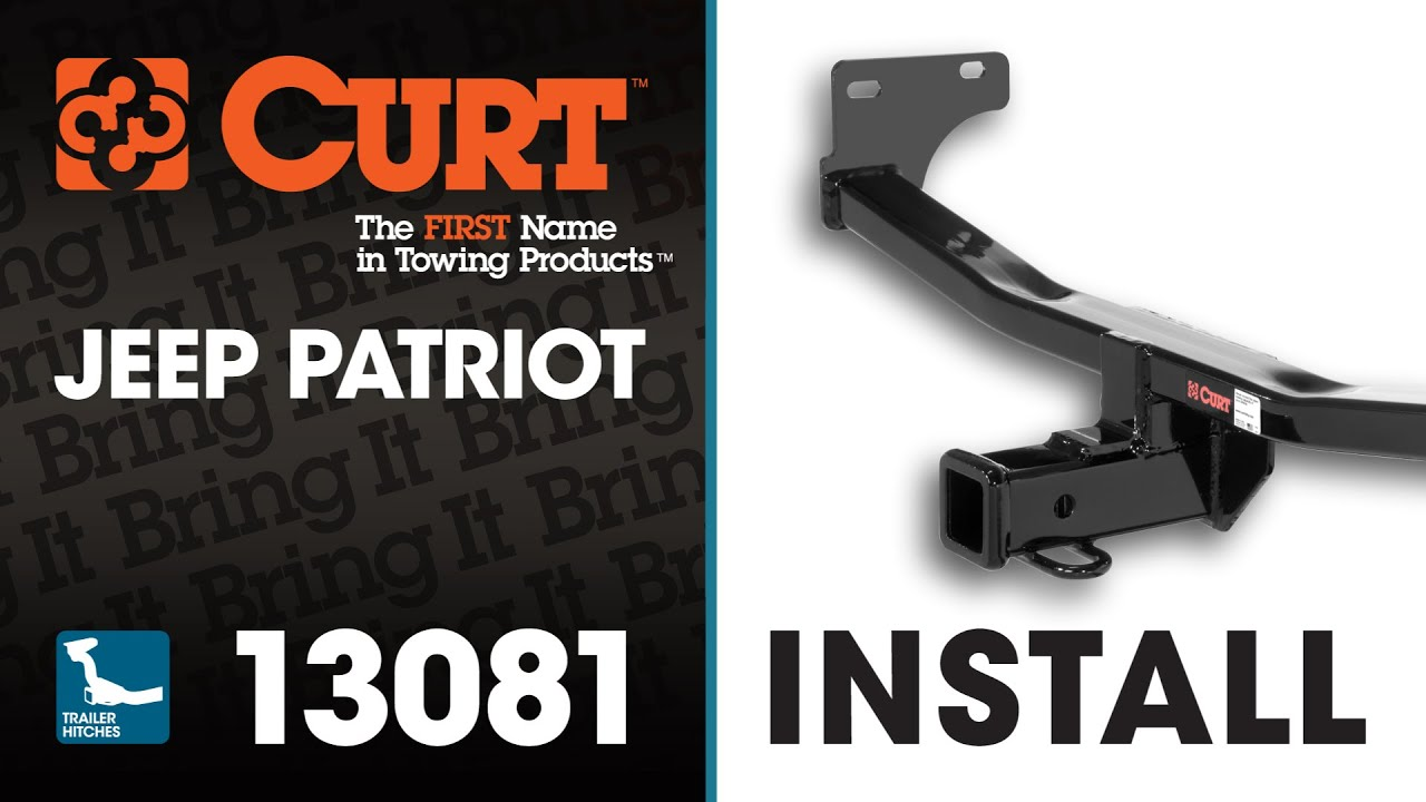 medium resolution of trailer hitch install curt 13081 on a jeep patriot