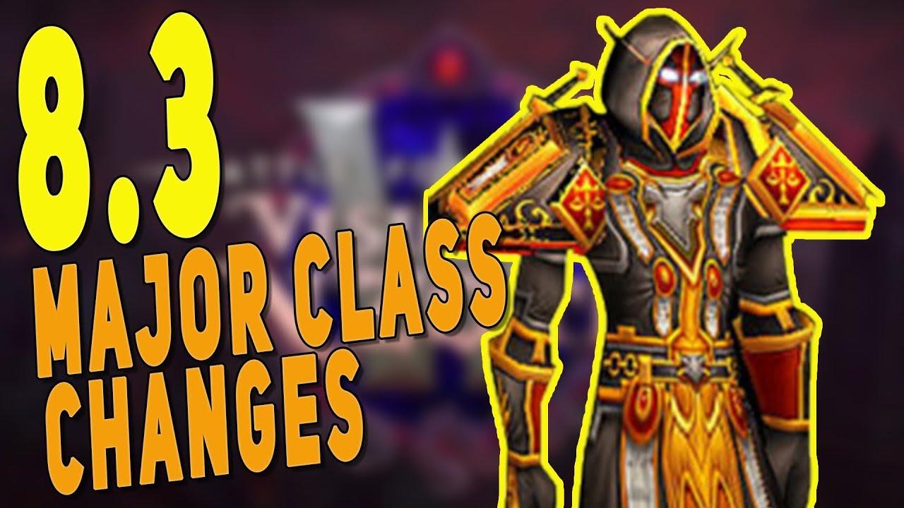 Download BfA 8.3 MAJOR CLASS CHANGES - Paladin Glimmer Nerf, Monk Fistweaving is Back! New Best Healer? | WoW