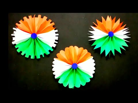 DIY paper flower making | Tricolor | Independence Day craft | Republic Day craft | Queen's home