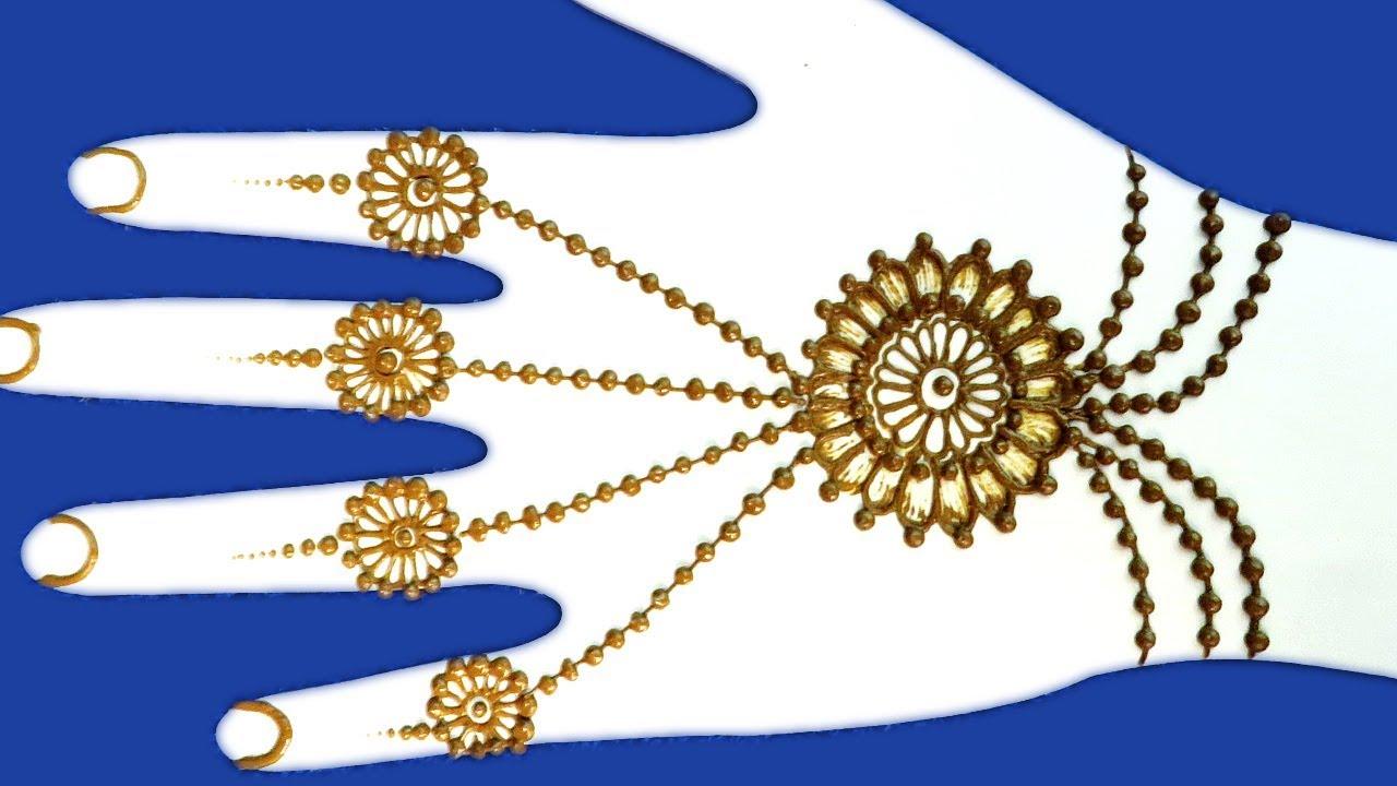 Mehndi Design For Hands : Easy Back Hand Jewelry Mehndi Design For ...
