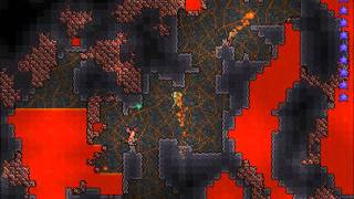 Terraria how to get loads of hellstone