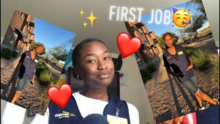 I GOT MY FIRST JOB😌✨! || COME TO WORK WITH ME💋