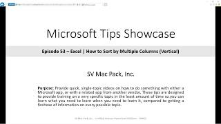 Sort by Multiple Columns | Excel | Microsoft 365 | Tip 53