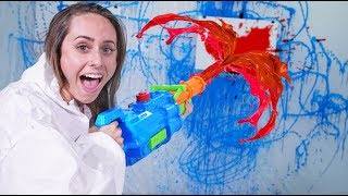 NERF Super Soaker Pictionary Challenge!
