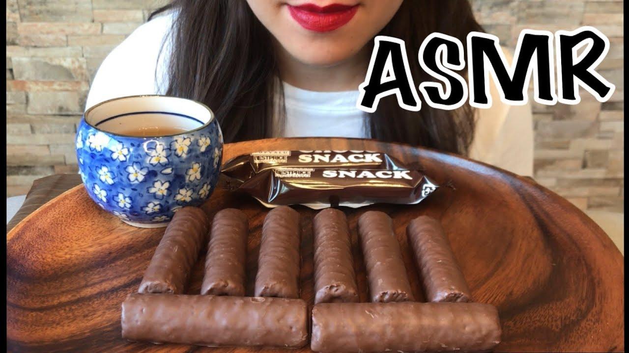 ASMR | CHOCOLATE STICK SNACKS 【EATING SOUND】【CHOCO ROLL SNACKS】