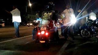 Американксие байкеры в гетто | Авария | Лос-Анджелес