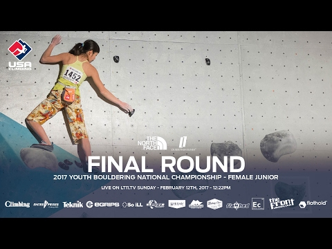 Female Junior • Finals • 2017 Youth Bouldering Nationals • 2/12/17 12:22 PM