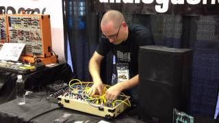 MATRIXSYNTH NAMM 2013: Richard Devine on Make Noise Modular at the Analogue Haven Booth