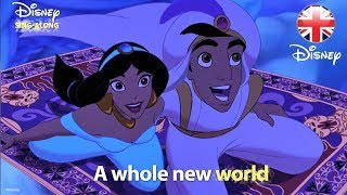 DISNEY SING-ALONGS | A Whole New World - Aladdin Lyric Video | Official Disney UK