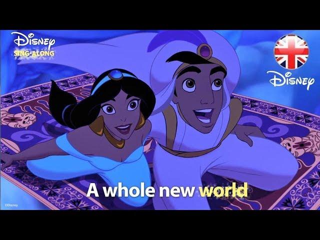 DISNEY SING-ALONGS | A Whole New World - Aladdin Lyric Video | Official  Disney UK - YouTube