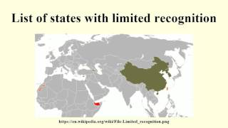 List of states with limited recognition