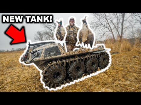 I Bought a NEW TANK and Took It HUNTING! (Amphibious 8×8 with TRACKS!) Catch Clean Cook