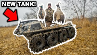 I Bought a NEW TANK and Took It HUNTING! (Amphibious 8x8 with TRACKS!) Catch Clean Cook