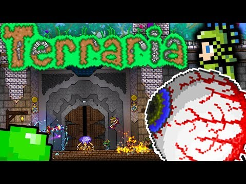 THE EYE OF CTHULHU BOSS - TERRARIA RED VS BLUE PRANK WARS #2