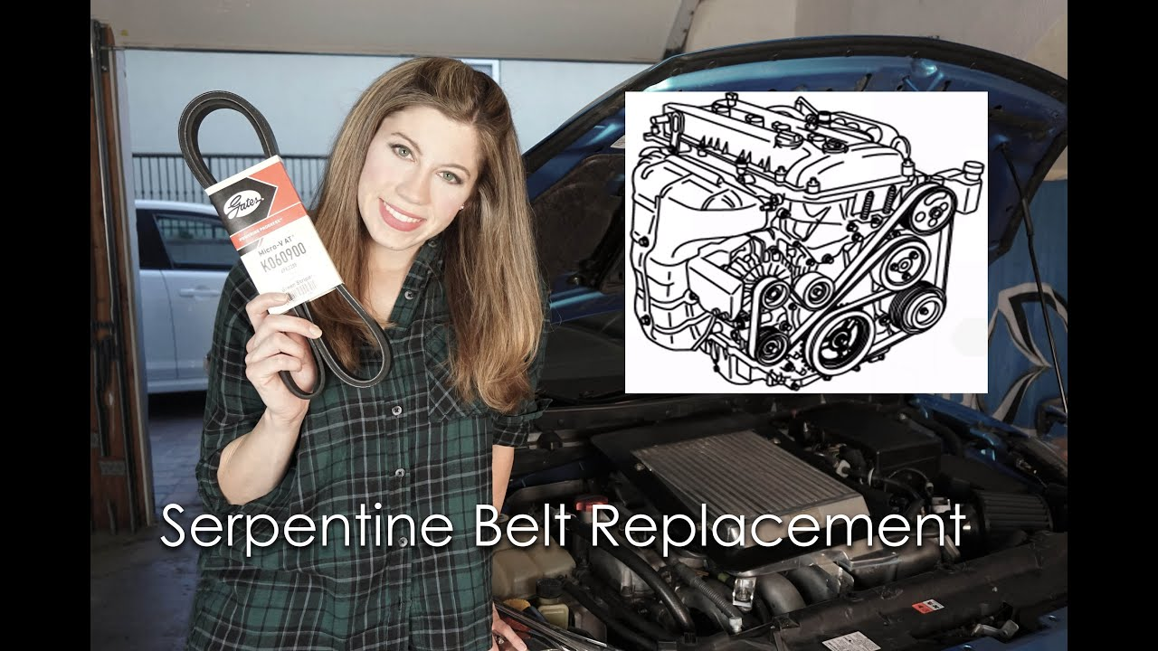 how to replace a serpentine belt  [ 1280 x 720 Pixel ]