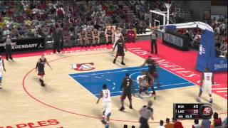 NBA 2K11 Gameplay (PS3) - NBA Today featuring Miami Heat vs LA Clippers